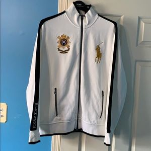 Polo Ralph Lauren black watch track jacket. Large